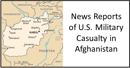 U.S. casualty in Afghanistan