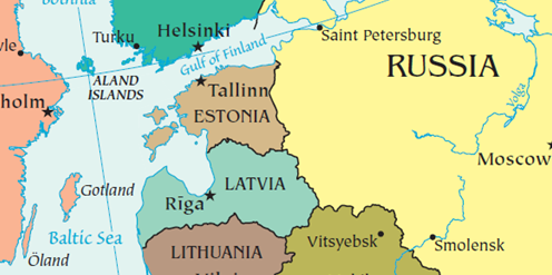 Map Estonia