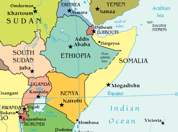 Map of Somalia (CIA map)