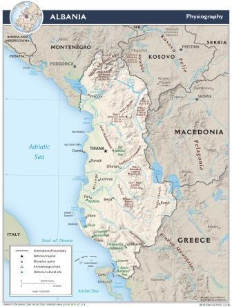 Map Albania - CIA