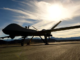 MQ-9 Reaper on flight line at Creech Air Base, Nevada. The RPA can carry four AGM-114 Hellfire missiles and two 500-pound bombs. It can fly for a 18-24 hour mission. (U.S. Air Force photo by Senior Airman Christian Clausen).