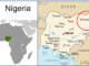 Boko Haram area of operations in Nigeria (image adapted from CIA maps World Factbook)