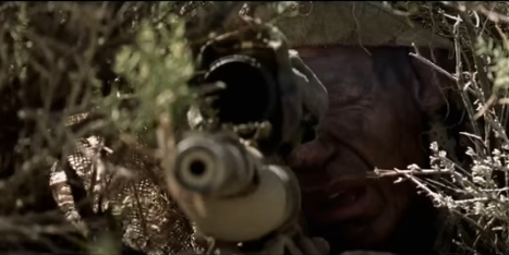 """John Cena stars in the war movie """"The Wall"""". Image from movie trailer on YouTube.com"""