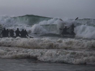 "Green Berets from 1st Special Forces Group conduct small boat training in the ocean surf. (photo from USSOCOM ""Tip of the Spear"", January 2017). Tip of the Spear January 2017"