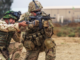 SFABs - Member of 82nd Abn Div trains an Iraqi soldier at Camp Taji, Iraq. (Credit U.S. Army/ SGT Cody Quinn)