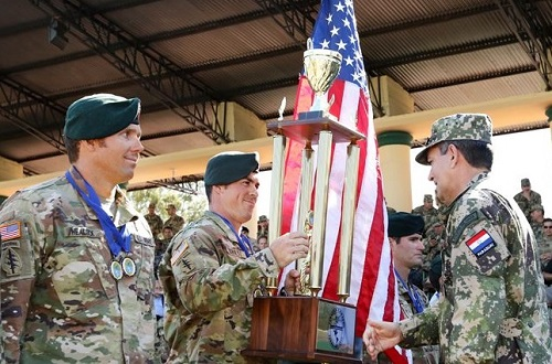 7th SFGA Team placed 3rd overall in Fuerzas Comando 2017 competition (Photo SOCSouth, July 2017)