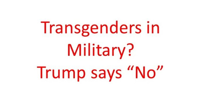 Transgenders in miliitary