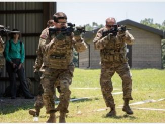 House Speaker Paul Ryan practices CQB at Fort Campbell, Kentucky while visiting the 101st Airborne Division on July 10, 2017. (US Army photo by SPC Patrick Kirby).