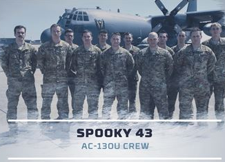 Spooky 43 AC-130U Crew recognized for most meritorious flight of the year by Air Force (AFSOC, Aug 7, 2017