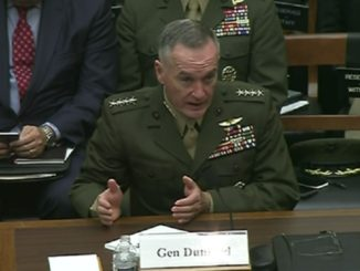 new Afghanistan strategy - General Dunford testifies before the House Armed Services Committee about the Afghanistan conflict on October 3, 2017. (Photo by DoD)