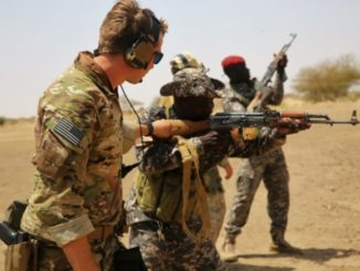 20171013 Chad Special Forces Soldiers receive marksmanship training on live fire range in Massaguet, Chad as part of the Flintlock 2017 exercise. Flintlock is an annual special operations exercise conducted by U.S. SOF. (Photo by SGT Derek Hamilton, US Africa Command, March 6, 2017).