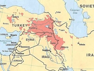 Kurdistan independence - Map of Kurdistan (derived from Central Intelligence Agency map dated 1986)