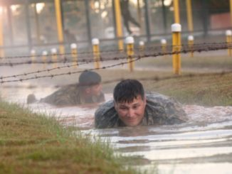SFAB selection - Members of 1st SFAB maneuver through an obstacle course at Fort Benning during bde's first combined field training exercise. (Photo SGT Argjenis Nunuez, 50th Public Affairs Detachment, 27 Oct 2017).