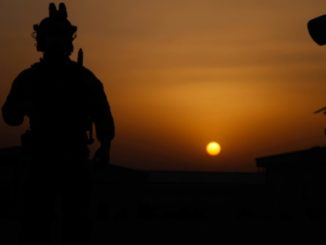 SF soldier from SOTF-A waits for nightfall prior to start of operation in Alingar district, Laghman province, Afghanistan. (U.S. Army photo, Sep 4, 2016).