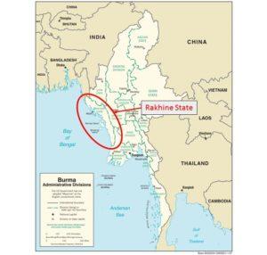 Map Rakhine State Burma