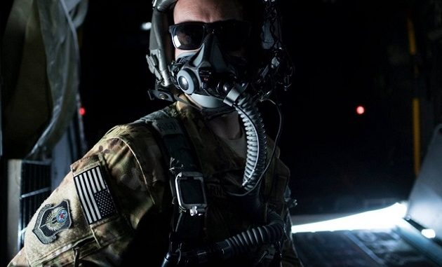 1st Special Operation Squadron (SOS) Airman Airman on a MC-130H Combat Talon II prepares for a jump with US Navy SEAL and Royal Thai Navy Special Warfare Operators (photo USSOCOM)