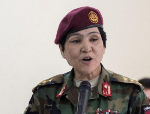 Women of the SMW - Lt Col Cobra Tahna of the Afghan National Army addresses women of the Special Mission Wing (SMW). (photo Sun Vega, NSOCC-A, March 12, 2018).