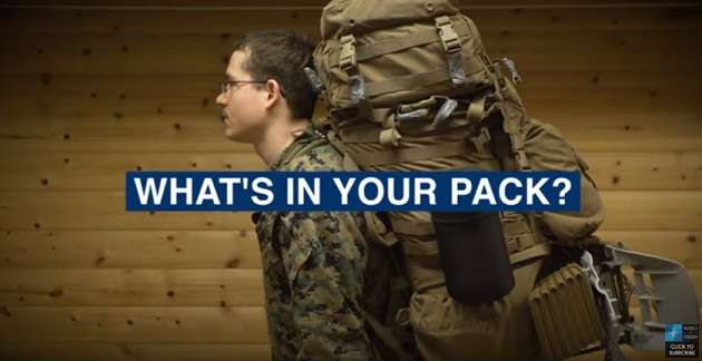 Video Cold Weather Packing List - Have a look at what a Marine puts in his backpack for cold weather training. (NATO, March 26, 2018).