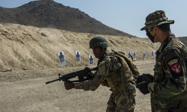 ASSF Commando Trains at Camp Commando outside of Kabul, Afghanistan.