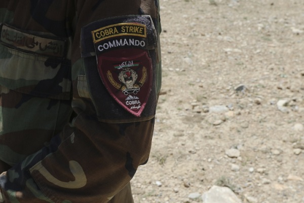 Cobra Strike Commando Patch. Photo by Martha Schaeffer, NATO Special Operations Component Command - Afghanistan (NSOCC-A), April 28, 2018.