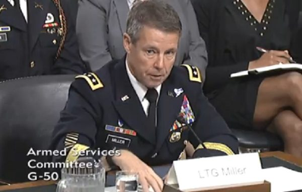 LTG Austin Miller testifying before the Senate Armed Services Committee on June 19, 2018 for confirmation hearing on command of Resolute Support Mission in Afghanistan.