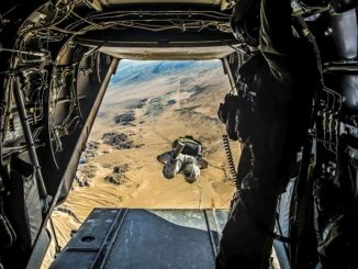 HALO Jump SOCSOUTH. USMC photo by PFC William Chockey, Jan 31, 2018.