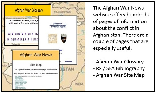 Afghan conflict references: blog, glossary, and bibliography.