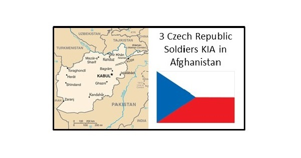 Three Czech Republic soldiers were killed during a suicide bomber attack in Parwan province, Afghanistan on August 5, 2018.