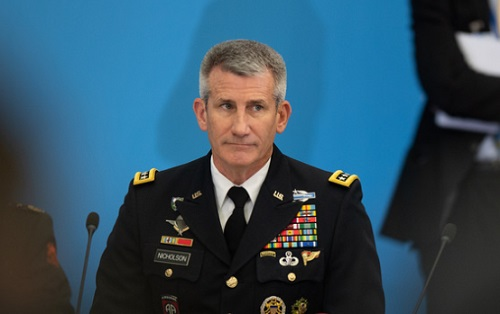 Nicholson attending a gathering of NATO at Brussells Summit on July 12, 2018. Photo by Tech. Sgt. Cody H. Ramirez, USAF.