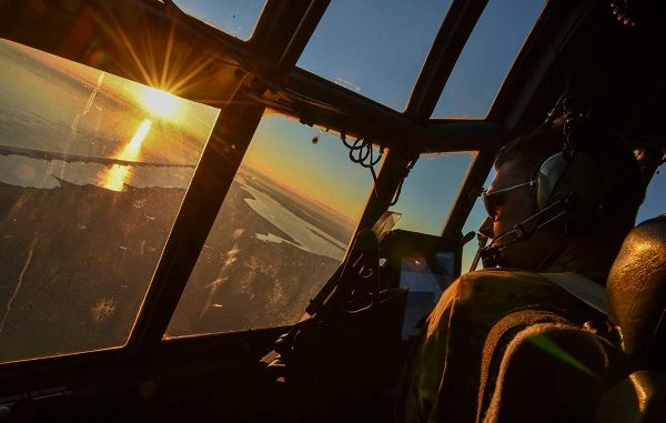 A C-130 from the 1st Special Operations Wing at Eglin AFB participates in Exercise Frigid Archer in 2016.