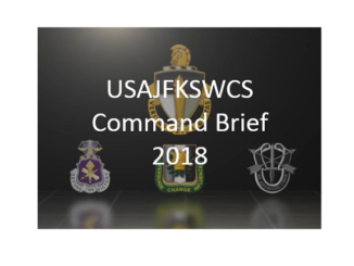 USAJFKSWCS Command Brief 2018