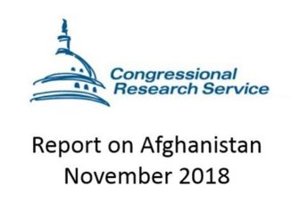 CRS Report on Afghanistan November 2018