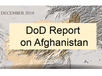 DoD report on Afghanistan December 2018
