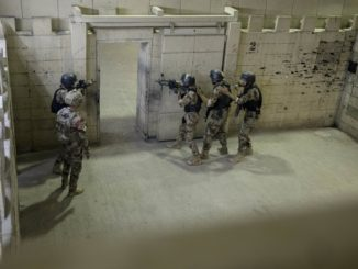 Iraqi CTS CQB training in live-fire shoot house. Photo by SSG Sara Zaler, CJTF OIR, Nov 6, 2018