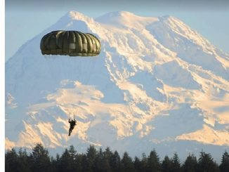 Parachutist. USASOC photo.