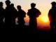 Soldiers at Sunset. DoD photo.
